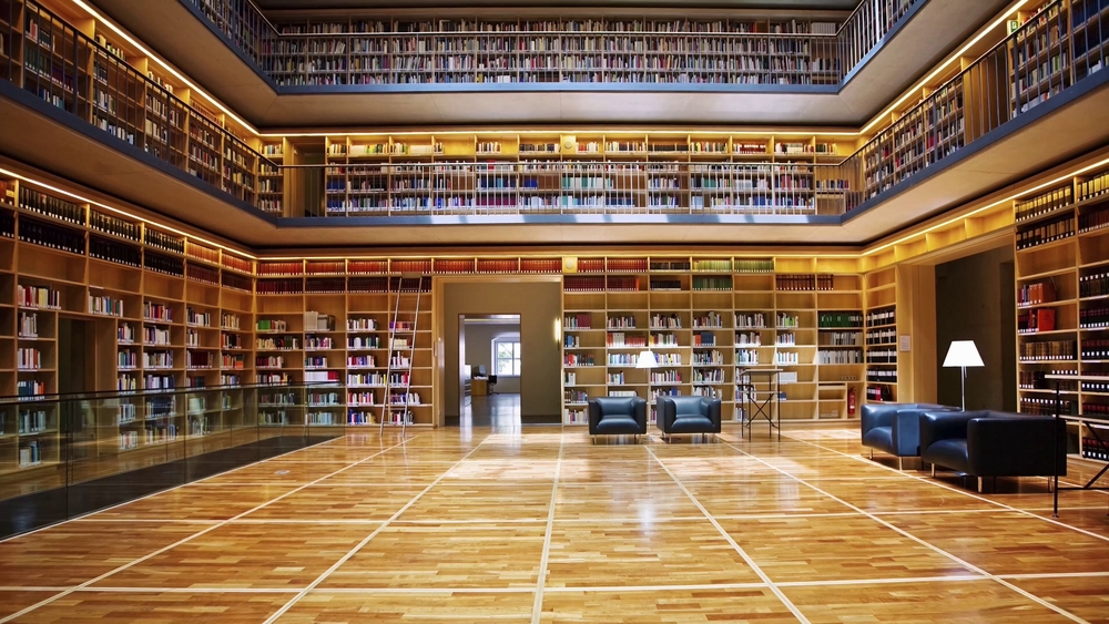 Large multiple story library