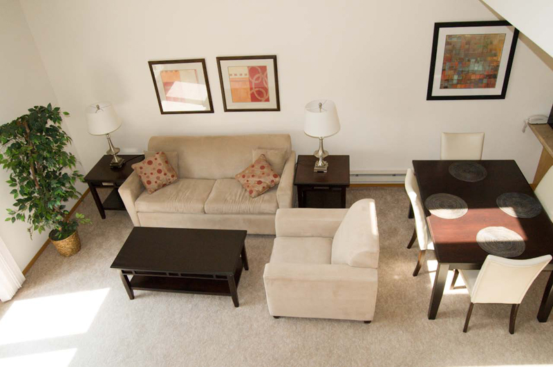 Top View of Living room area